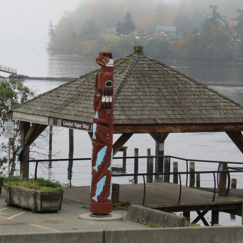 The sea walk gazebo in Nanaimo, BC