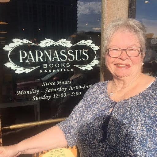 Sylvia entering Parnassus bookstore in Nashville